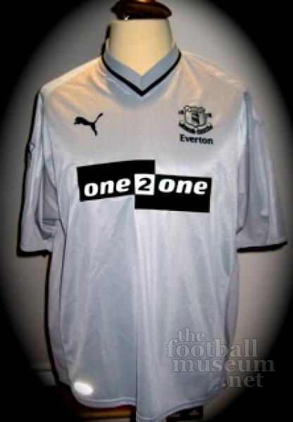 Paul Gascoigne  Match Worn Everton Shirt
