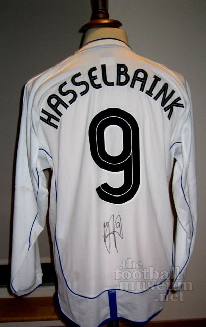 Jimmy Floyd  Hasselbank  Match Worn Chelsea Shirt