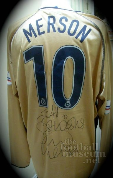 Paul Merson  Match Worn Portsmouth Shirt