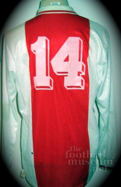 Tarik Oulida   Match Worn Ajax Shirt